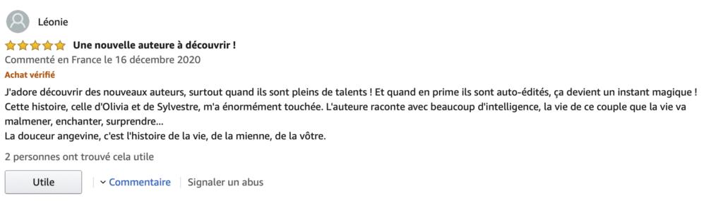 Avis Amazon La douceur angevine Blandine Cain